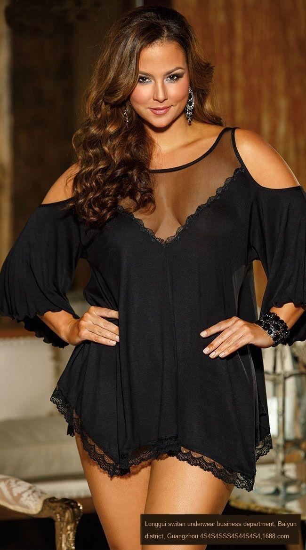 j3GHf taille plus sexy chemise de nuit 4225 Sous-vêtements pyjamas 4225 Sous-vêtements taille plus sexy pyjama chemise de nuit