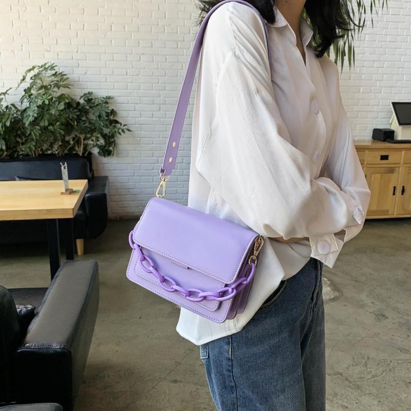 Luxury Bags Handbag Mini Chain Fashion Flap Design For Women Female Shoulder Leather PU New Cross Body Bag Nesfb