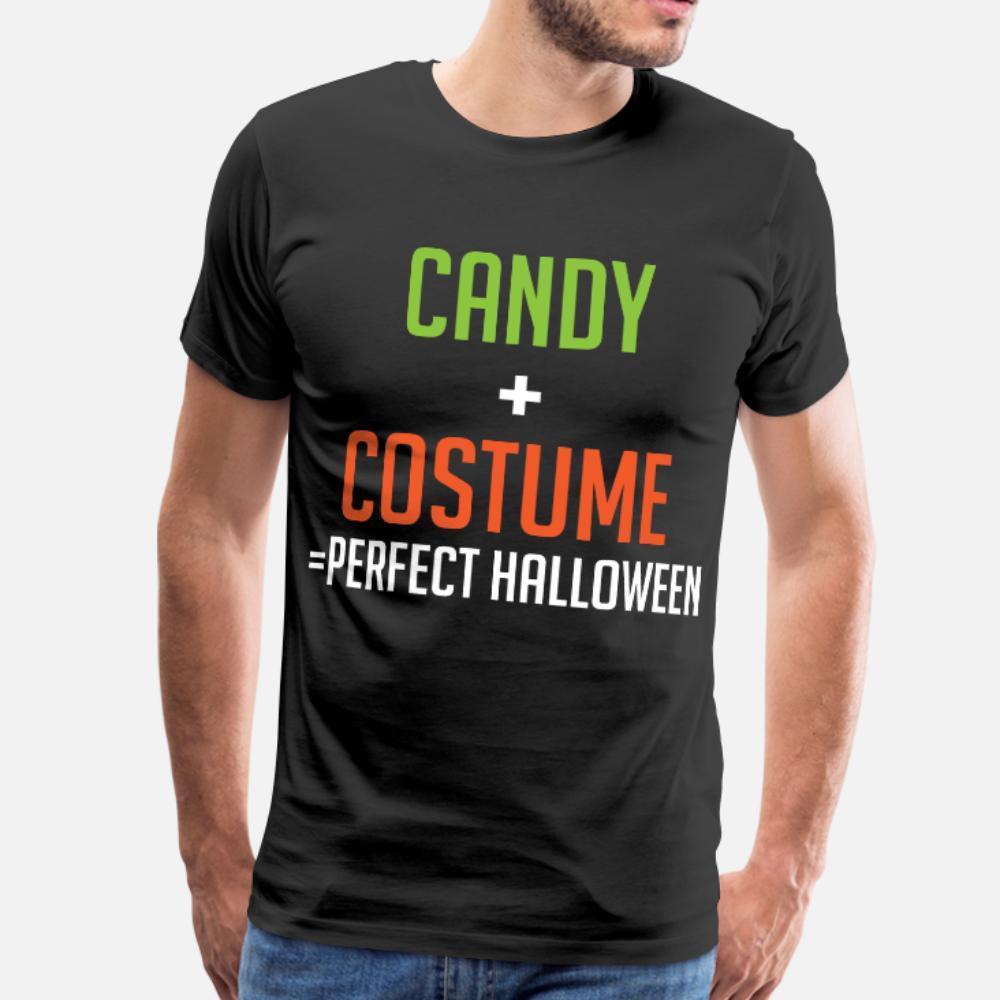 Süßigkeit Kostüm Beste Halloween-T-Shirt Männer Designer Cotton Plus Size Interessantes Gebäude-Sommer-Art einzigartiges Hemd Fit 3xL