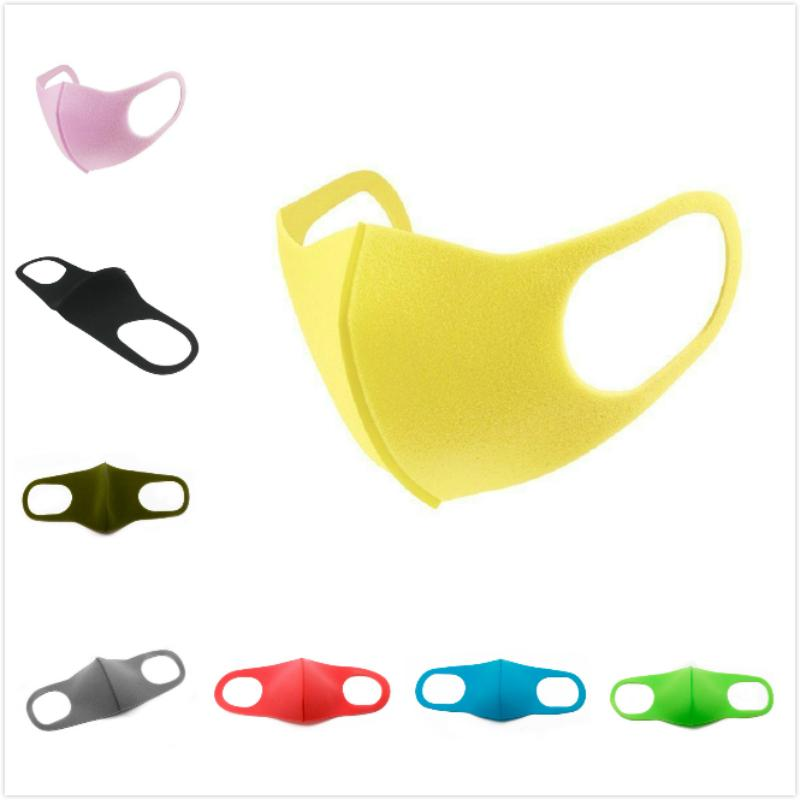 Sac individuel adulte Masques visage Earloop Pliable Masques de protection respiratoire Lavable bouche éponge Masque anti-poussière Masques de protection Parti AHE815