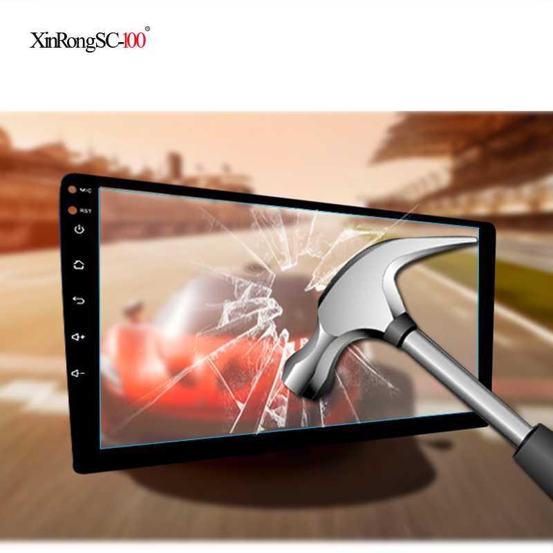 """Protezioni per lo schermo del computer 9 """"10.1"""" Autoadesivo di pellicola protettiva in vetro temperato per 9 10.1 pollici auto radio multimediale video giocatore di navigazione GPS"""