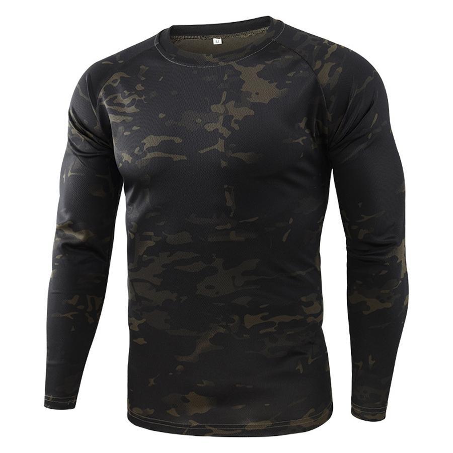 Manica magliette abiti da uomo Mens magliette di modo magliette casuale di colore naturale lungo # 263