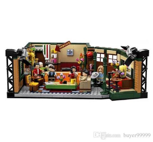 NEW كلاسيك مسلسل درامي الأصدقاء الأمريكية الوسطى بيرك مقهى تناسب الموديل بناء بلوك طوب logoingLYes 21319 لعبة طفل هدية