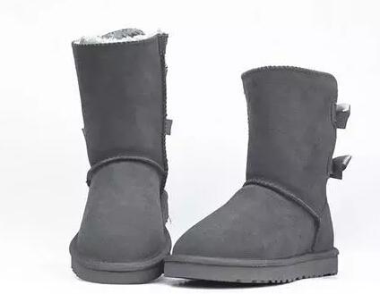 UGG Hot cadeau Vente- Womens bottes BAILEY BOW Bottes hiver de neige pour les femmes marron rose bleu chocolat noir gris 9colors grand noël taille