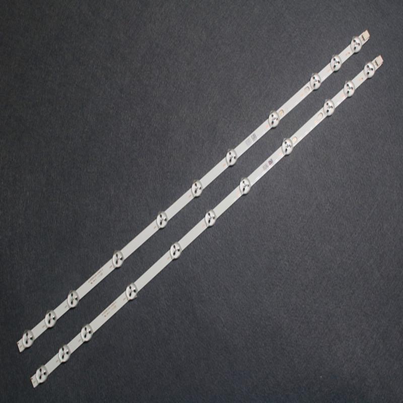 Conectores de cables de computadora 2 unids / set 11 LEDs 575mm Reemplazo de tira LED original Vestel 32D1334DB VES315WNDL-01 VES315WNDS-2D-R02 VES315WN