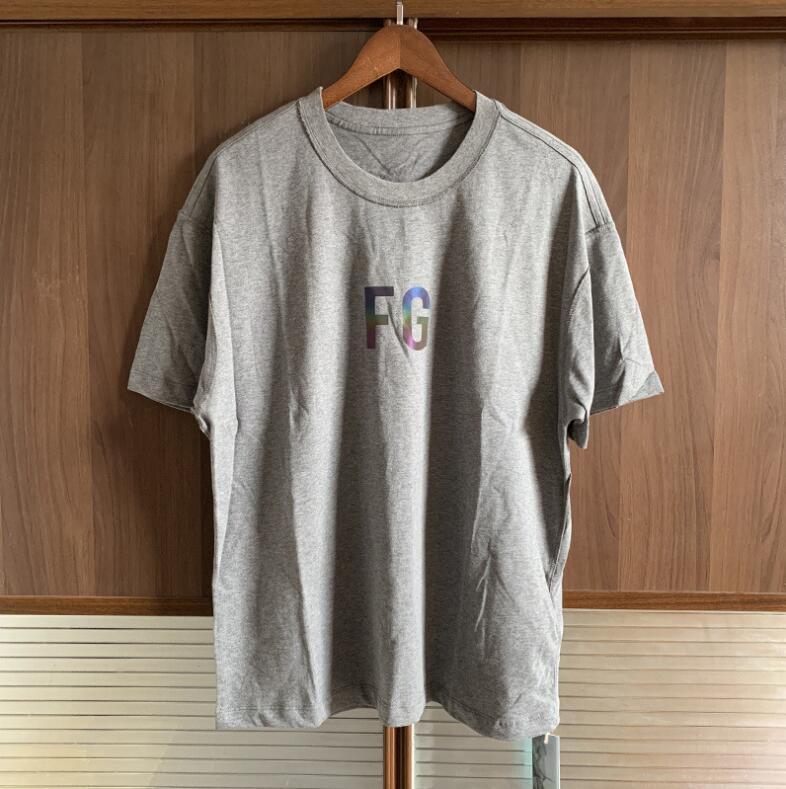 Europäische und amerikanische Modemarke Gottesfurcht in limitierter Auflage bunte reflektierende Kurzarm-T-Shirt FOG reflektierende kurzärmelige