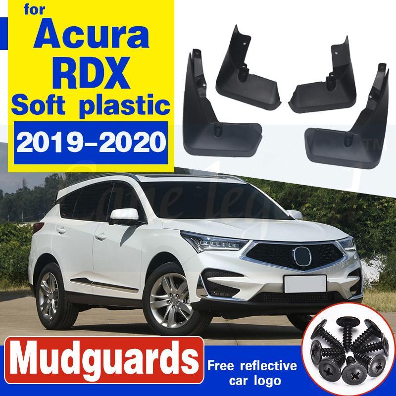 Backar voiture avant arrière garde-boue pour Acura RDX 2019 2020 boue Rabats Accessoires Splash Guard Fenders bavettes en plastique souple 4Pcs