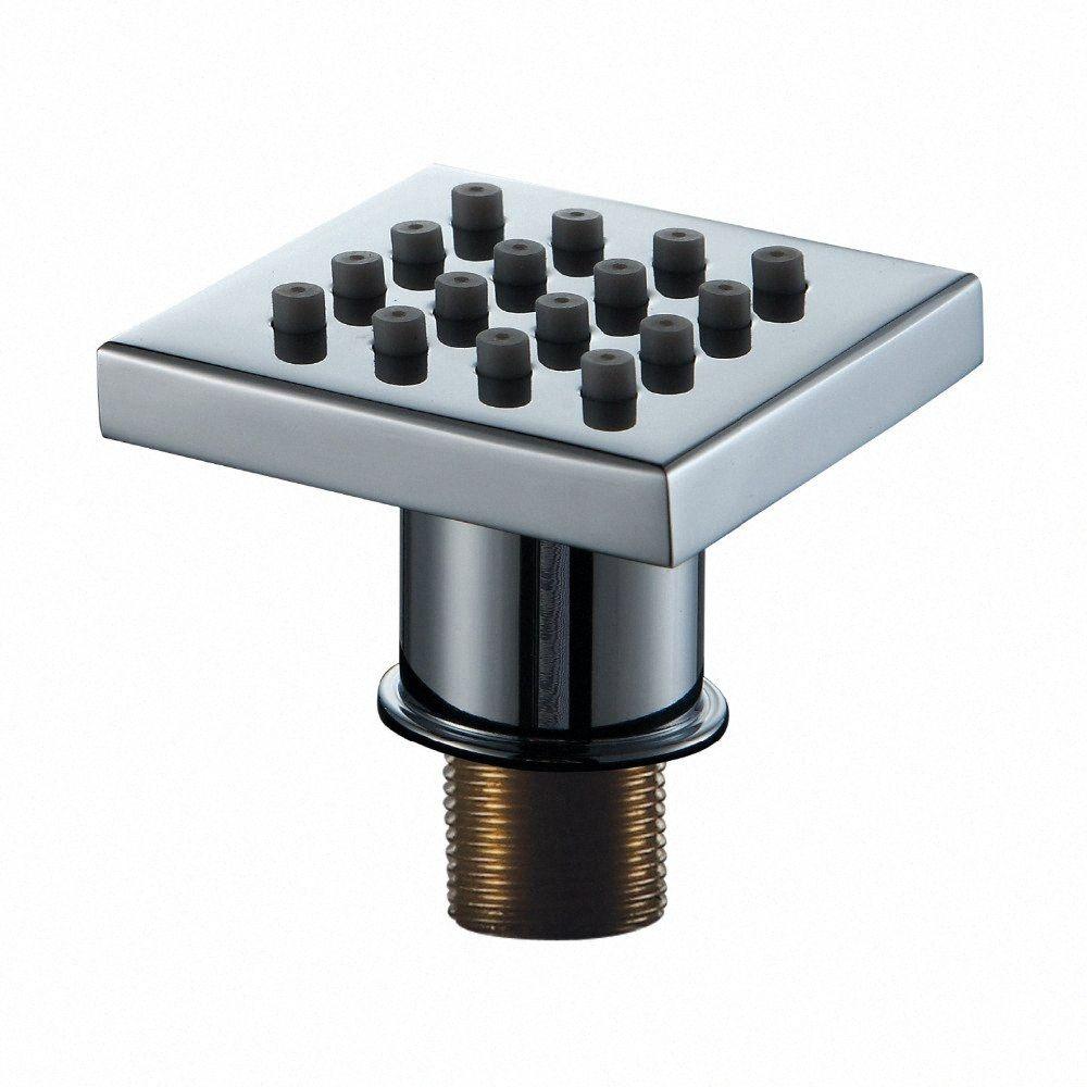 40*40*9mm New Hot Promotion Silicon Square Brass Body Shower Jets Body Sprayer Jets Bathroom SPA Sprayer Nozzle eLNB#