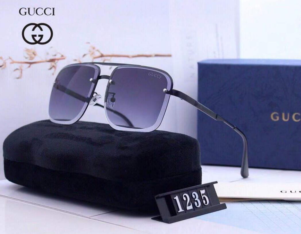 1235 Sıcak Satış Marka Tasarım Güneş Vintage Pilot Marka Güneş Gözlükleri Bant UV400 Erkekler Kadınlar Ben Metal Çerçeve cam Lens ile