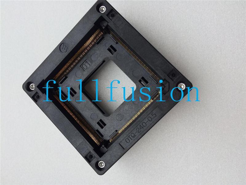 OTQ-240-0.5-01 Enplas IC Testi Soket QFP240 0.5mm Pitch TQFP240 Soket Yanık