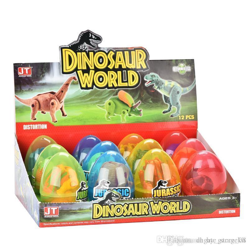 динозавр мир пасхальный сюрприз яйца динозавра игрушка модель мини-фигурки младенца образования детей игрушки подарок 03