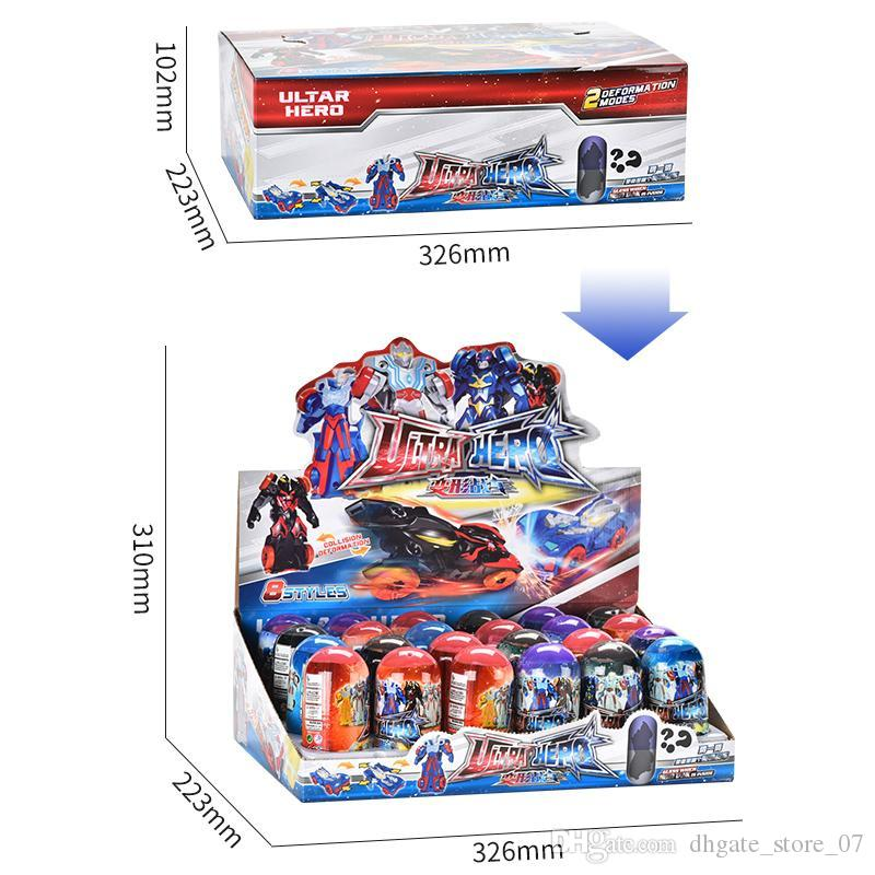 Collision deformation car Children's animation toy Character cars switch freely high quality toys both boy and girl