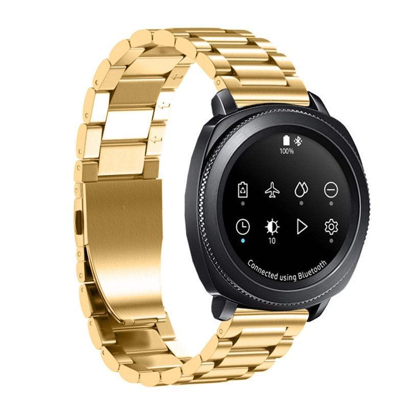 Cgjxs 20 mm de acero inoxidable reloj de la correa de banda de Samsung Gear Deporte / S2 Classic R732 R735