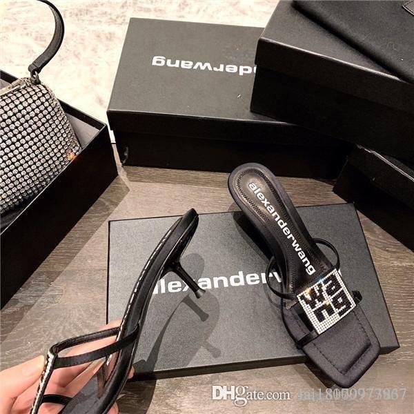 2020 женщин размер дизайнер роскошь сандалии тапочки повседневная обувь классические звезда звезда старинных ALE моды Zapatos высокий каблук 4.5см 35-39 с коробкой
