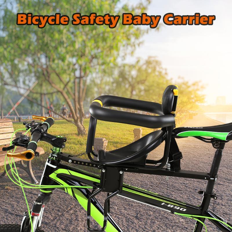 Sécurité des enfants Vélo Siège vélo avant bébé Siège enfant Selle avec pied Pédales Support Retour Reste pour le VTT Vélo de route Vélo