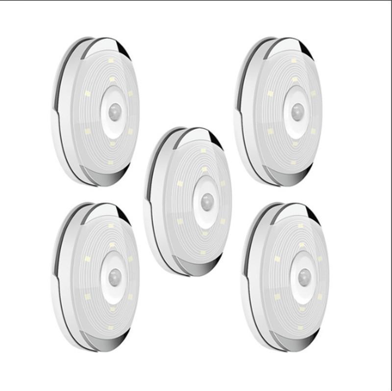 LED-Licht Pir Bewegungs-Sensor-Nachtlampe warmes Weiß Schrank-Schrank Schrank Schlafzimmer Küche Treppe Beleuchtung LED Puck Lichter