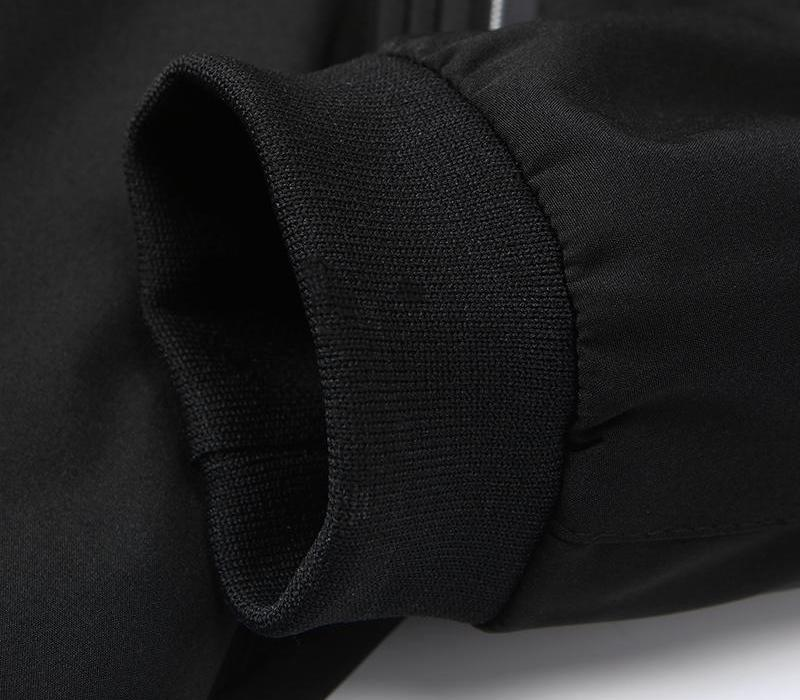 Les hommes Blouson Streetwear hommes coupe-vent Slim Wear Veste mince Mens Bomber Pilot Vol avec Correctifs for22