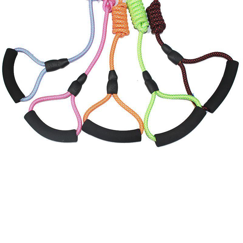 Artículos para mascotas Correa perrito de la cabeza del doble tracción de la cuerda al aire libre Multi Colores Una Arrastre dos tracciones Nueva correa llegada 10yc3 L1