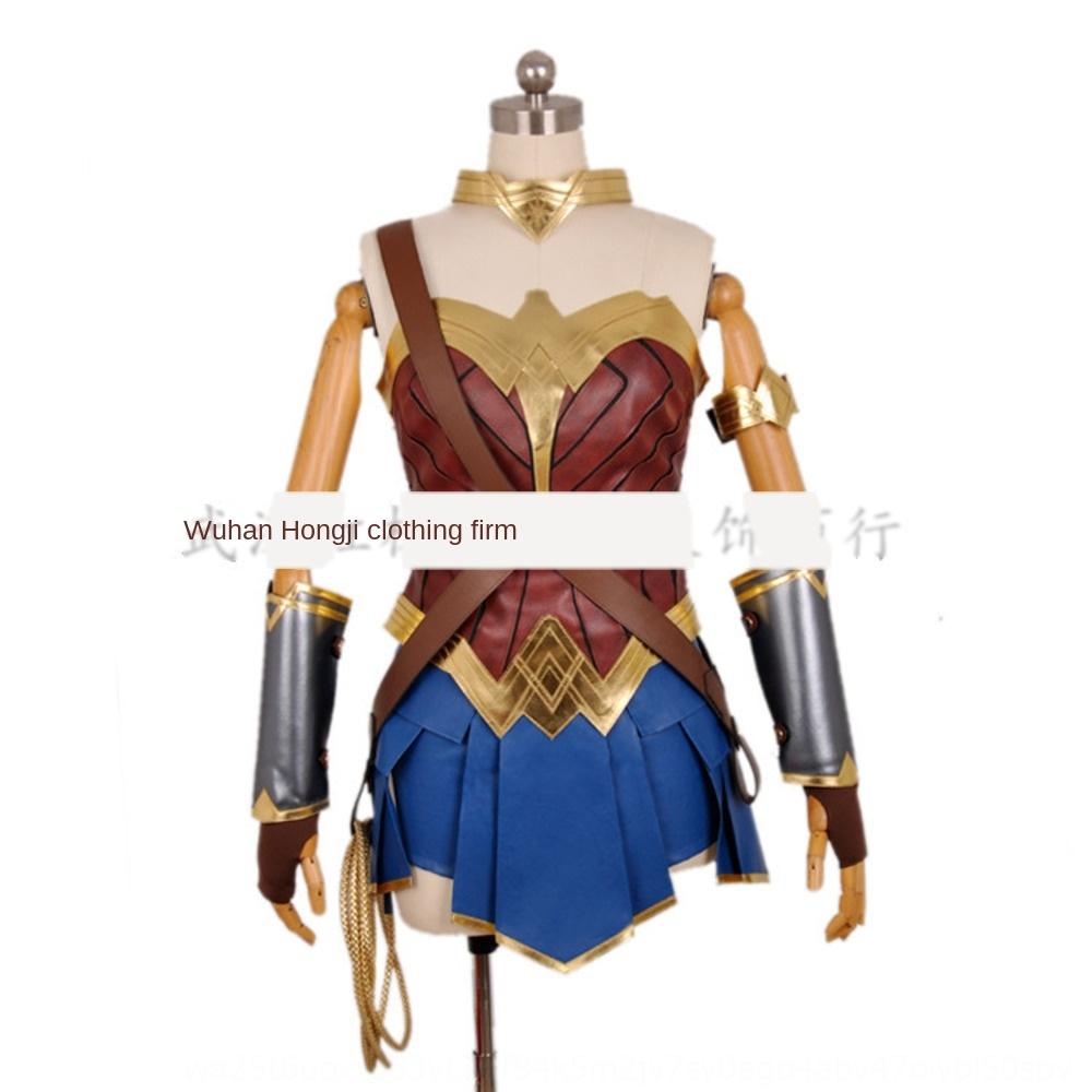 7EY9w Halloween Superman performance clothing Wonder Woman animation suit cos adult Halloween Superman performance costume clothing Wonder W