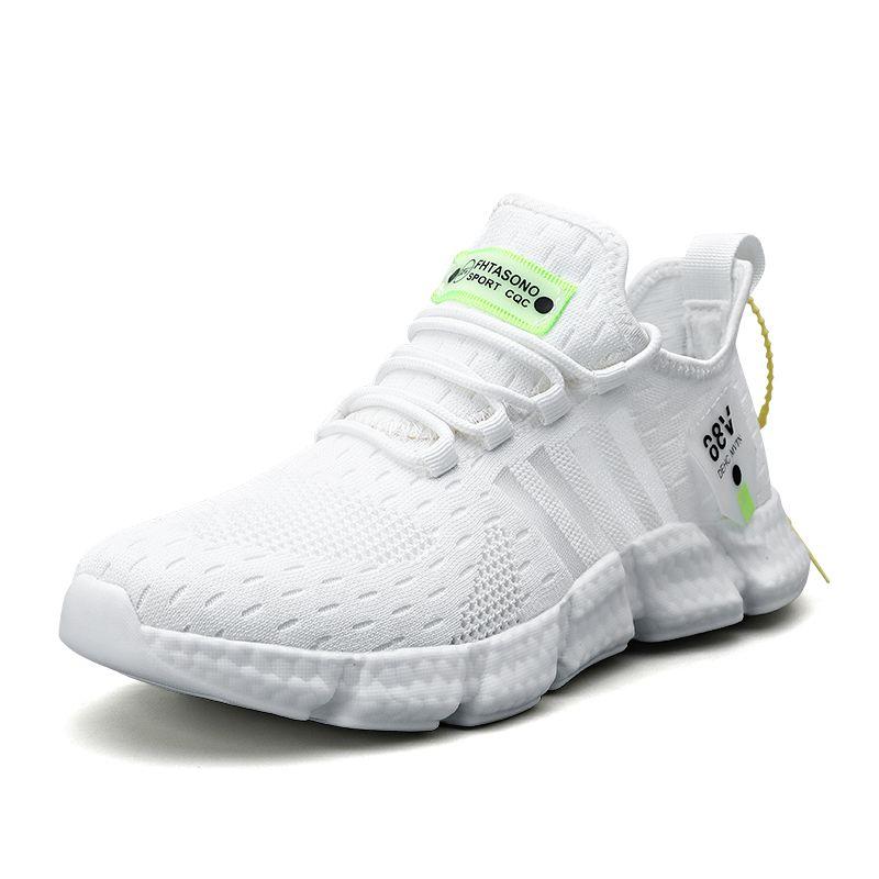 Nueva escalas de pescados zapatos tejidos transpirables Deportes Hollow Bottom Ligera Deportes Zapatos Casual de reproducción neta Hombres zapatillas de deporte