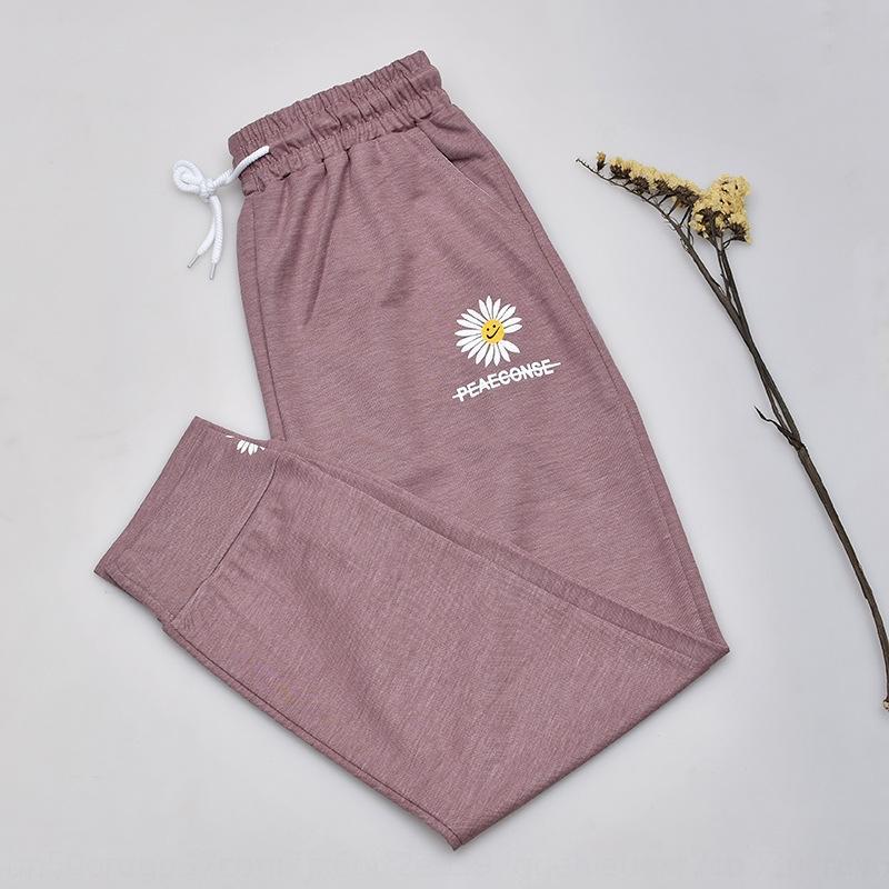 Papatya tozluk kadın 2020 ilkbahar / yaz kadın ince gündelik Coat rahat pantolon dış giyim büyük boy köpük ayak bileği uzunlukta pantolon