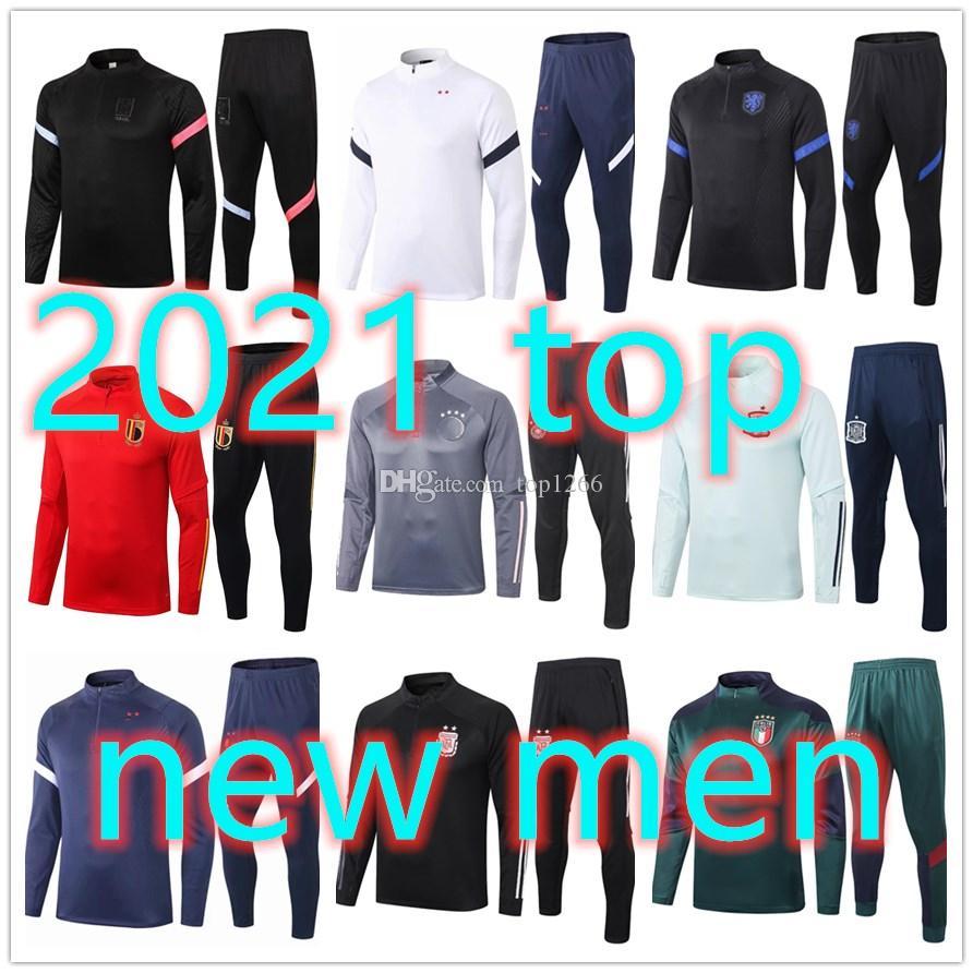 20 nouveaux adultes 21 hommes Survêtement formation de football maillot d'entraînement de football 2020 2021 survetement de pied chandal de jogging Football
