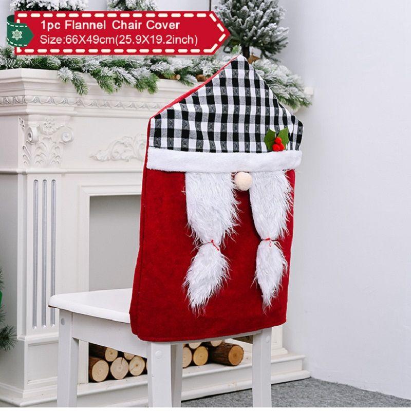 Covers de Natal cadeira para trás Jantar Cadeira Coberta Slipcovers Para Xmas Banquet férias Chritsmas Decoração DHD1524
