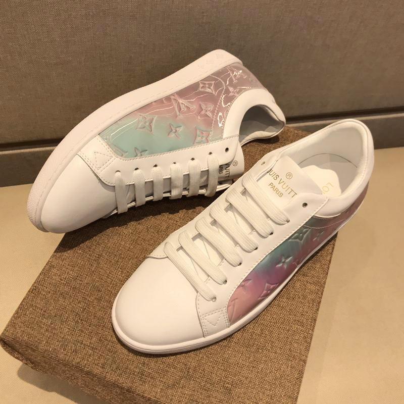 2019x rede Impresso Sapatos Masculinos Casual Desportivo de qualidade superior de luxo designer sapatos casuais couro genuíno Lace Up Mnes Casual sapatos tamanho 38-45