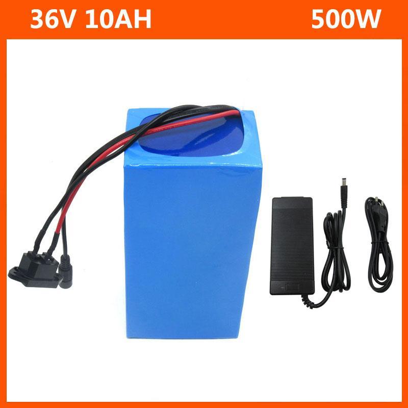 36 V Lityum Pil 36 V 10Ah Elektrikli Bisiklet Pil 250 W 350 W 450 W 500 W ile PVC Durumda 15A BMS 42 V 2A Şarj Ücretsiz Kargo