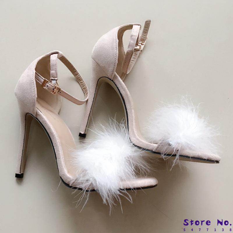 Лучшие продажи Волосатые рыбы туфли на высоком каблуке 43 Женская обувь для покупки Sandalia Feminina Большой размер сандалии ZL-590-20