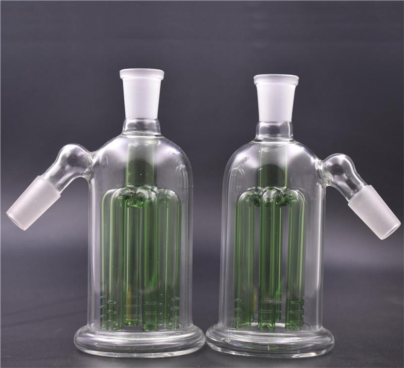 Cheapest filtro Glass Bong Ash Catcher 8 Armed Albero Perc ashcatcher Bong 14 millimetri 18 millimetri riciclatore cenere collettore narghilè per fumare