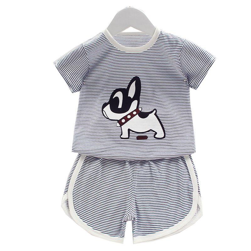 cute dinosaur/dog/ bear/monkey/Totoro baby shorts suit t-shirt soft cotton Summer children boy girl kids clothes pants new