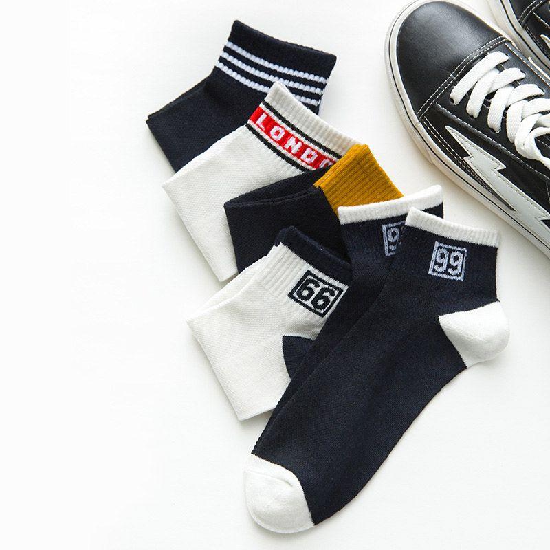 Moda antideslizante hombres ningún Mostrar calcetines de algodón cómodo respirable de los calcetines del barco