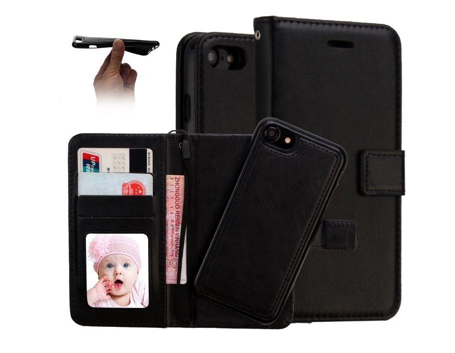 Per iPhone X 8 7 6 più 2 in 1 caso di cuoio magnetico magnete staccabile sfoderabile per Samsung S8 S8plus Not8 trasporto libero