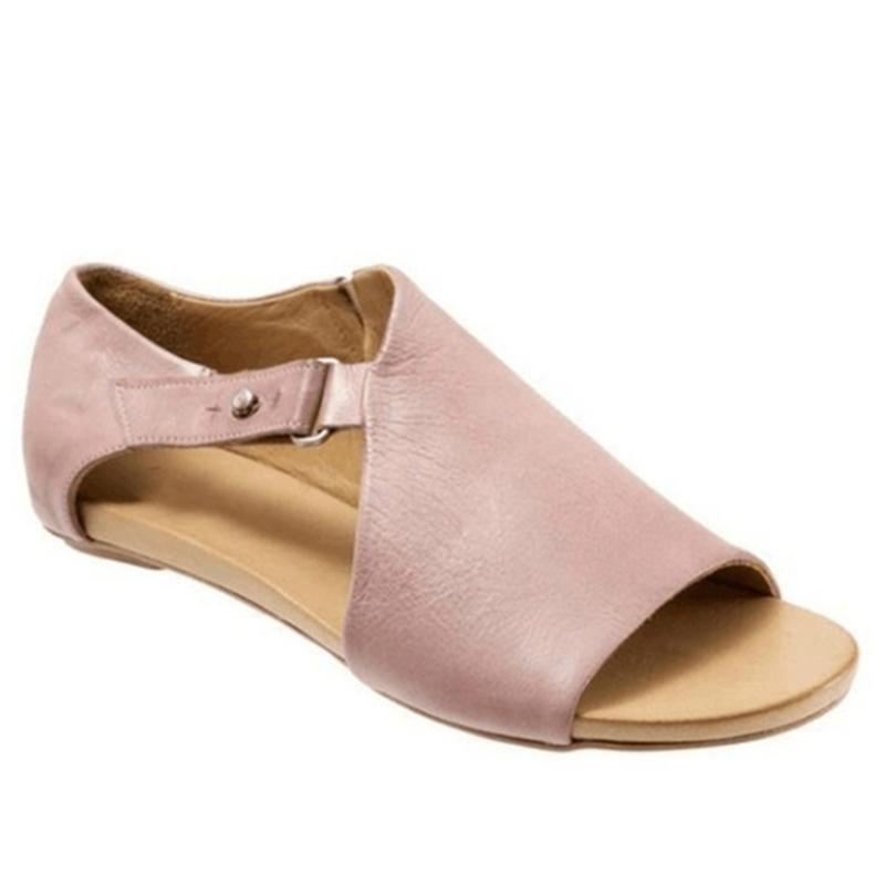 Kadınlar Sandalet Flop'lar Flats 2020 Yaz Gladyatör Roma Ayakkabı Kadınlar Slaytlar Toka Lady Casual Kadın Peep Toe Sandalias çevirin mujer
