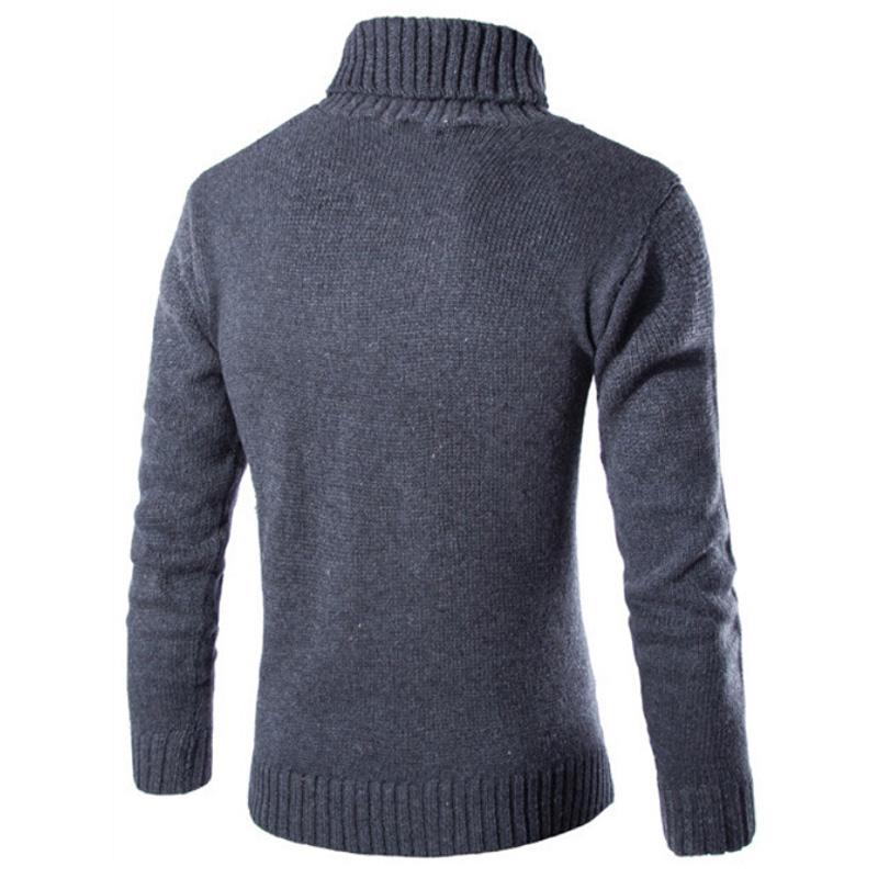 Uomini Tops Casual Maglione Ufficio Inverno manica lunga Fashion Business Collo Jumper Pullover