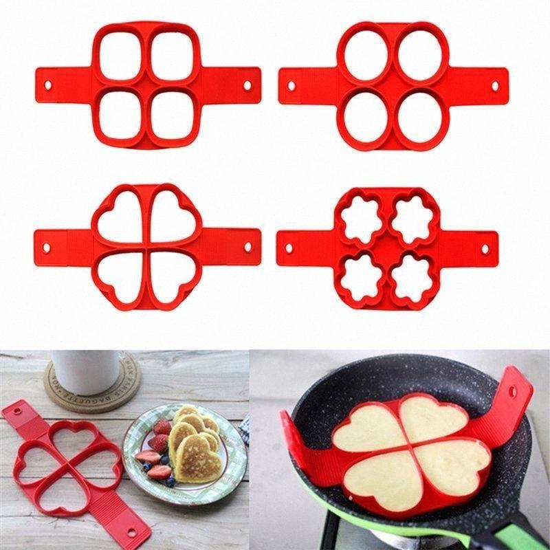 Silicone Pancake di cottura antiaderente strumento Cuore crêpière fornello dell'uovo di cottura della cucina uova Mold cottura della cucina Kitchen Picc 9JHi #