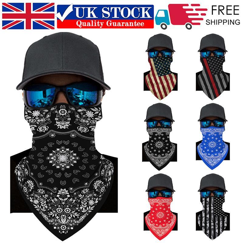 La mascarilla del Pañuelo para la cabeza bufanda del abrigo de la cubierta de la venda tubo del cuello de la motocicleta al aire libre Ciclismo mascarillas Aire libre