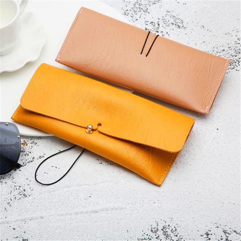 1 Pz PU Leather Portable Occhiali da sole bello caso della scatola del supporto degli occhiali di immagazzinaggio del sacchetto della copertura Eyewear Accessories