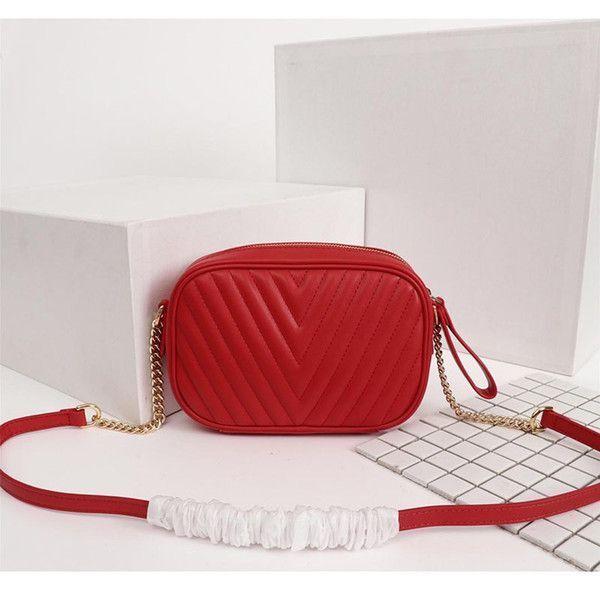 Классическая волна шаблон Сумка для фотокамеры натуральной кожи цепи площади сумки кошелек женщины сумка плеча Дизайнерской Small Bag Сумка Crossboy сумка