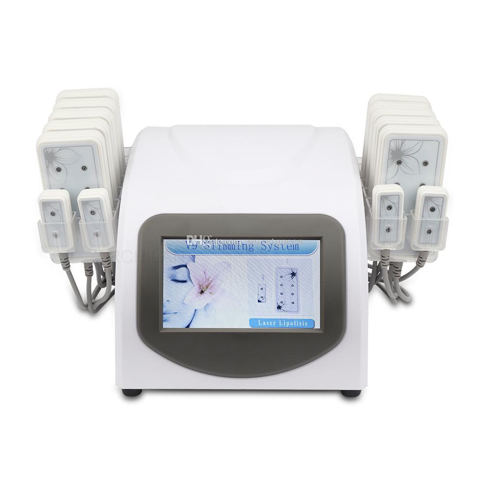 Home Portable 5mW 635nm-650nm Lipo Laser 14 Pads Celulite remoção beleza Body Shaping máquina de emagrecimento beleza equipamentos