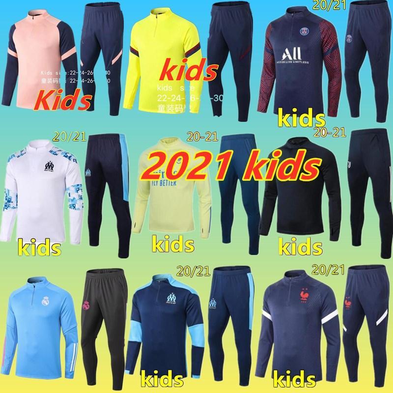 2021 enfants Survêtement soccer costume de formation de football 2020 2021 enfants le football Survêtement survetement chandal le jogging