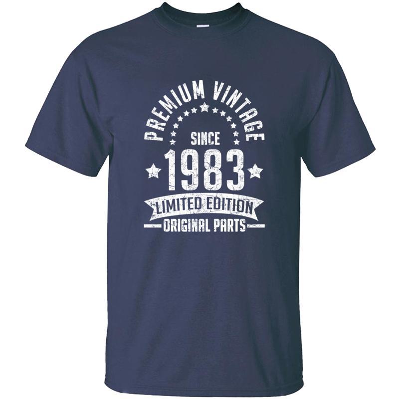 Erkek% 100 Pamuk O-Yaka Temel Katı Harajuku Tişörtler Oversize S-5XL CAMISAS Gömlek Tee Top İçin Yeni Geliş Tasarım 1983 T Gömlek