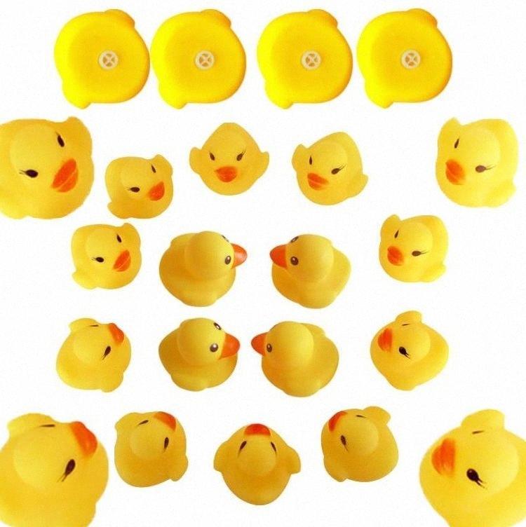 New Baby Toy Bath Som Rattle Crianças infantil Mini Rubber Duck presentes Piscina Bathe raça Squeaky Duck Piscina Fun Jogando Toy I u259 #