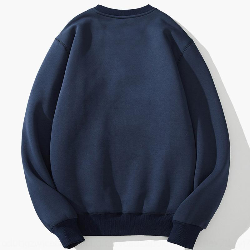 свитер утолщена E1764 воротник круглый Теплый свитер пальто Ykw0A мужской модный баранина флис Новый теплый персонализированный досуг Корейский стиль л LN3HJ