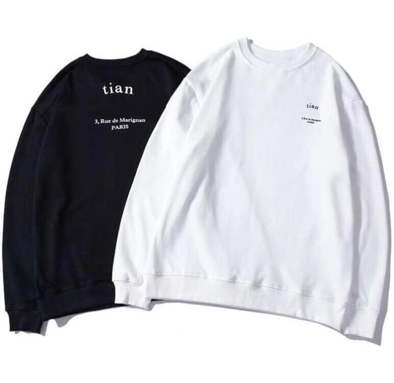 20FW Primavera Felpe per Uomo Donna con lettere Felpe alta qualità Homme Pullover Streetwear Hooded Tops M-2XL Option