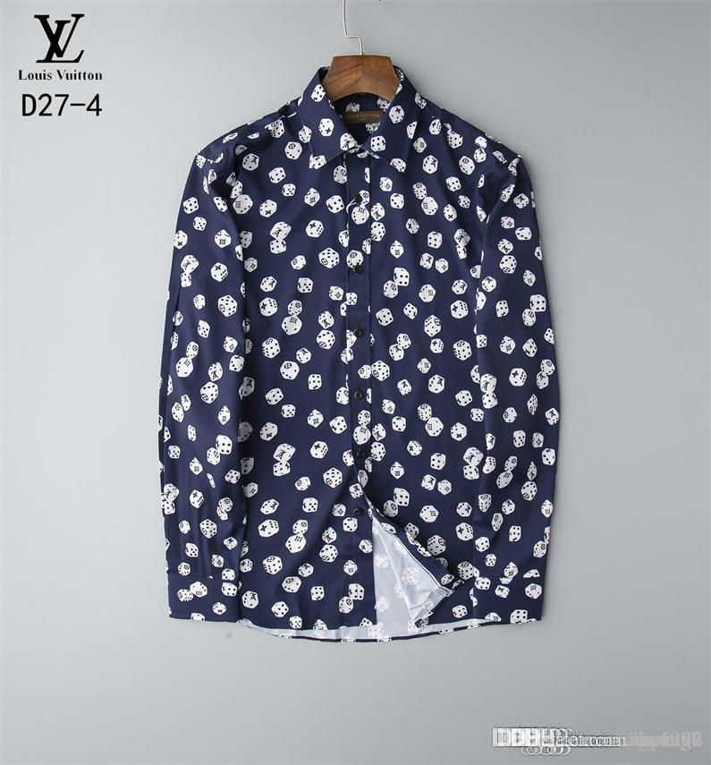 Wholesale 2019 New Spring Men Shirt Lattice Design Korean Style Casual Mens Plaid Shirts Man Long Sleeve 100% cotton dress men shirts BBL3