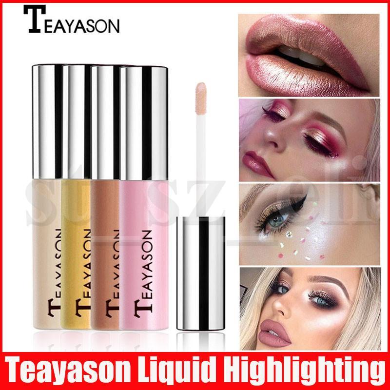 Teayason Face Eye Makeup Highlight Face Liquid Golden Bronzer Highlighter Make Up Shimmer Powder Highlighting Base 7 Colors