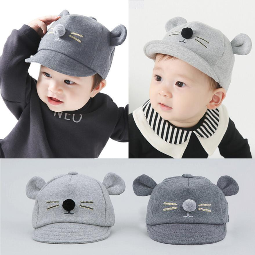 New Arrival Kids Baby Bunny Rabbit Visor Baseball Cap Cotton Peaked Hat super cute baby flat cap nice August 13