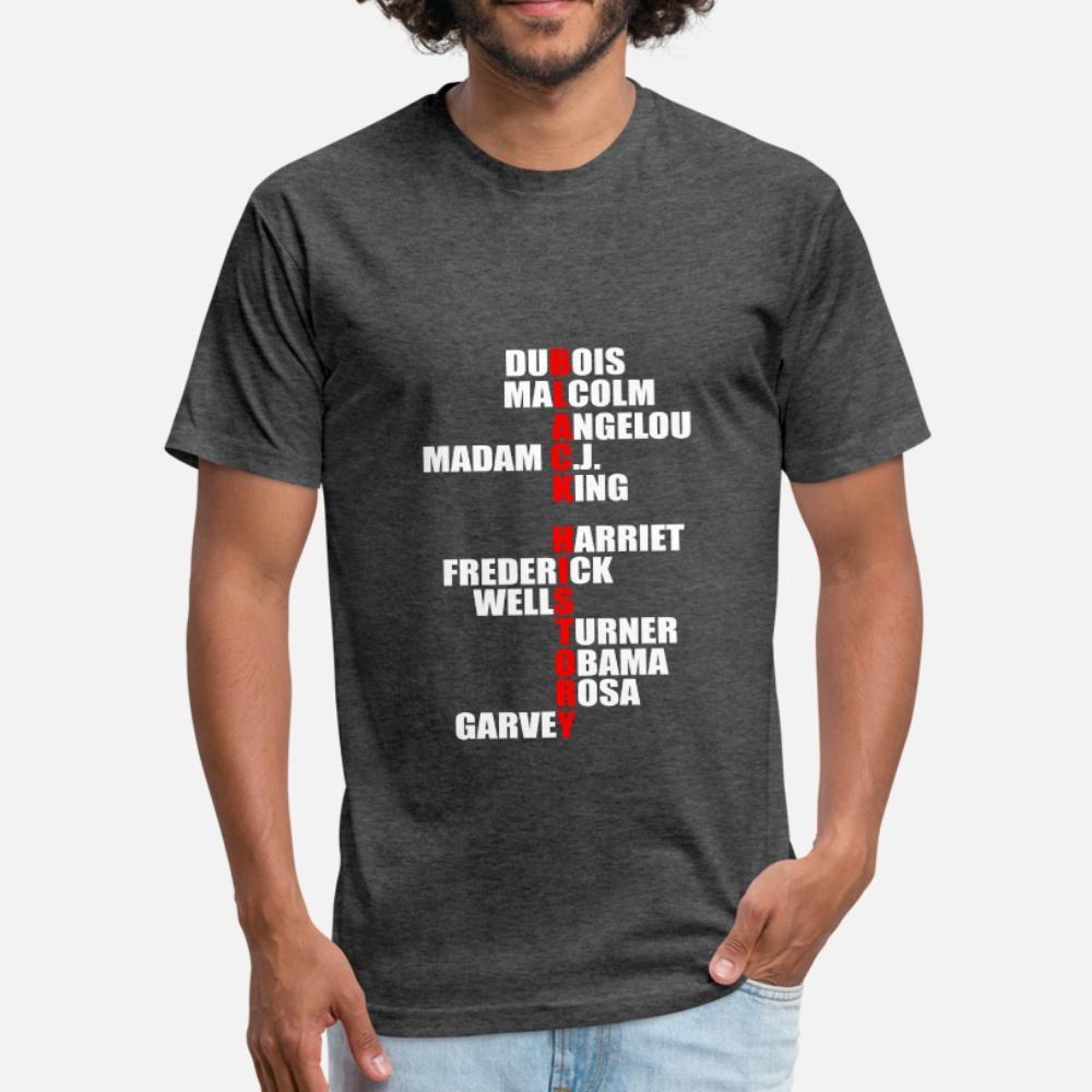 L'histoire des Noirs d'Afrique Mélanine soutien des hommes de T-shirt en tricot shirt mâle rond cou fou nouvelle mode Lettres d'automne printemps chemise